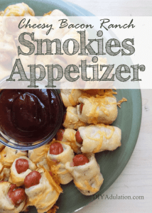 Cheesy Bacon Ranch Smokies : Easy Pop-able Appetizer