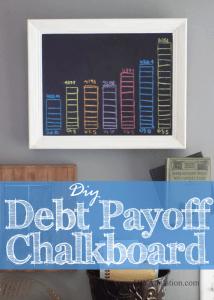 DIY Debt Payoff Chalkboard for Debt-Free Living