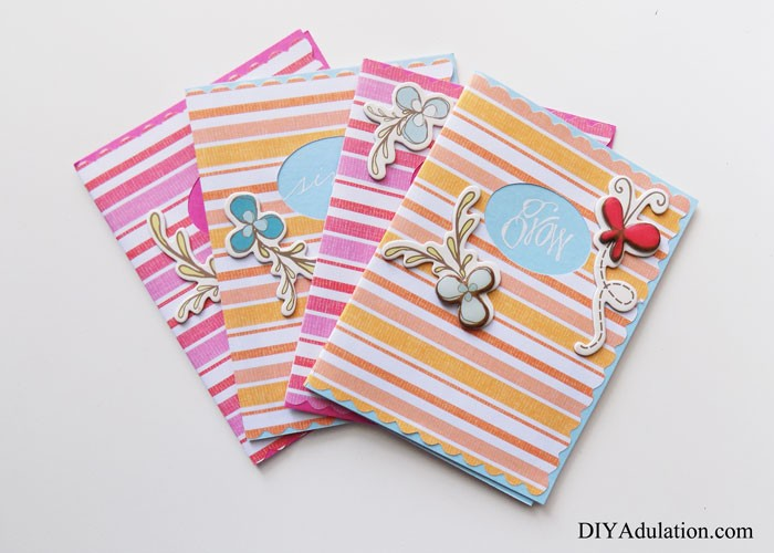 Set of Floral Note Cards