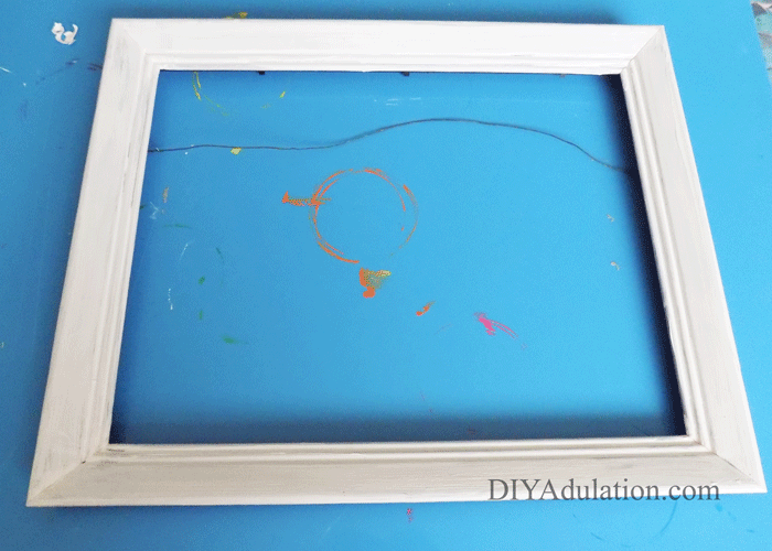White Painted Empty Frame