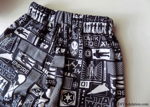 Close up of Star Wars Sleep Shorts