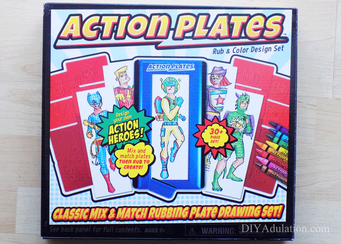 Box of Action Plates Art Kit