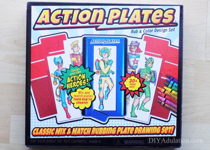 Box of Action Plates Art Kit
