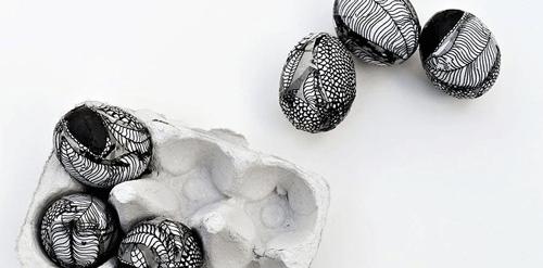 Marimekko Decorated Easter Eggs