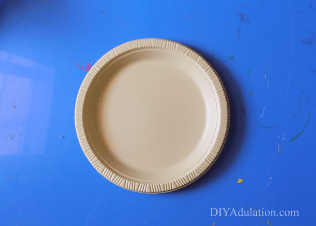 Plastic yellow plate