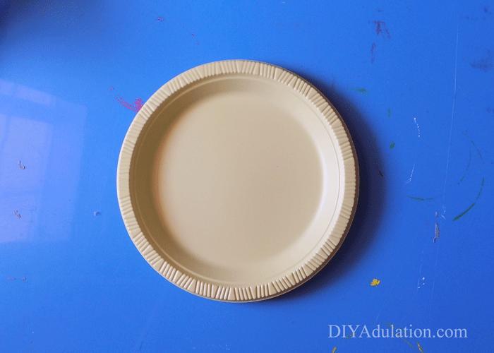 Plastic yellow plate