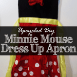 Upcycled DIY Minnie Mouse Dress Up Apron