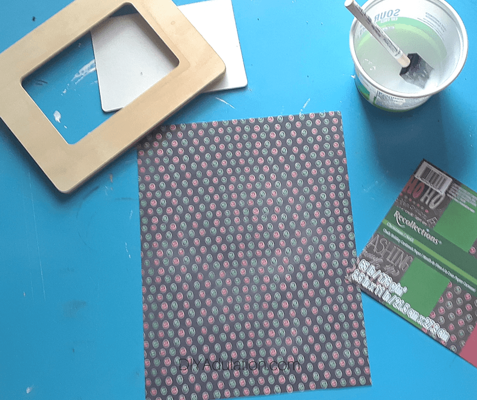 Decorative Paper with Craft Supplies