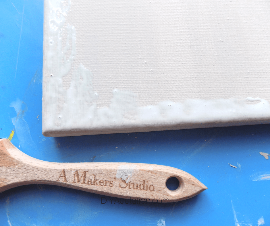 Gilding Size on Painted Canvas