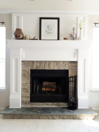DIY Fireplace Mantel Redo  DIYAffair