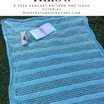 Weighted Blankets Diy Cotton Beach Glass Throw A Free Crochet Pattern Rich Textures Crochet Diyall Net Home Of Diy Craft Ideas Inspiration Diy Projects Craft Ideas