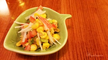 Sweet corn with crab meat