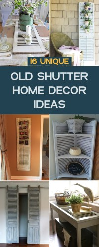 16 Unique Old Shutter Home Decor Ideas