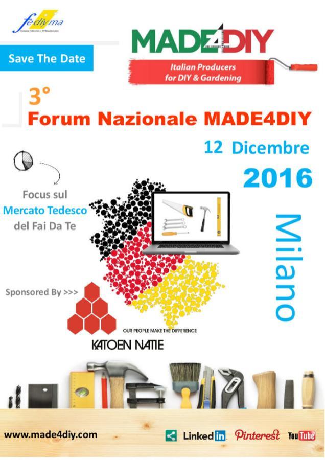 3° Forum MADE4DIY. Il programma