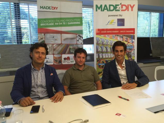 da sinistra: Ivan Bartolucci, general manager; Luca Gaudenzi, marketing manager e Michele Zucca, presidente