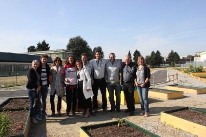 L'inaugurazione con l'Assessora al Welfare Sonia Schellino e Carlotta Salerno, Presidente della circoscrizione VI Barriera di Milano