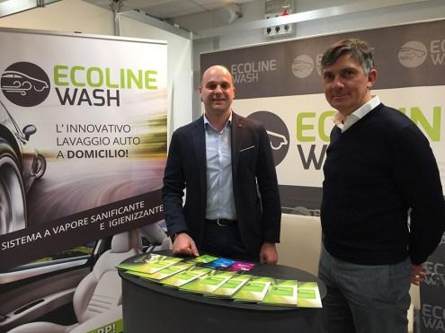 Michele Manara, CEO & Founder e Gilberto Brecciaroli, business Development manager, di Ecoline Wash