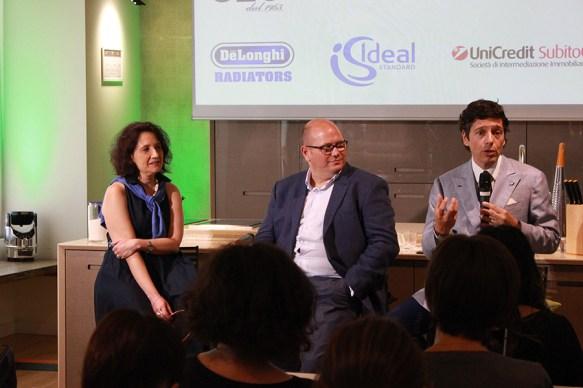 Da sinistra Anna Comincini, Gianni Bientinesi e Massimiliano Dona
