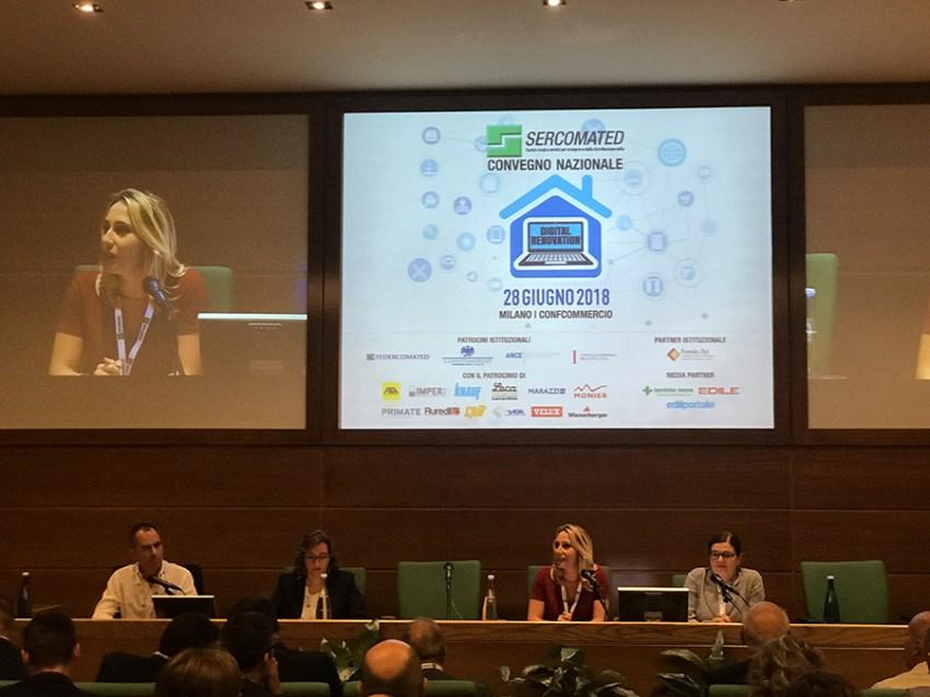 Sercomated Convegno 2018: da sinistra Giulio Finzi,Elisa Angiola, Claudia Vanni, Francesca Zirnstein
