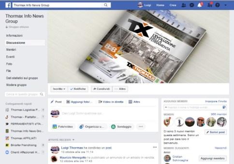 La pagina Facebook di Thormax