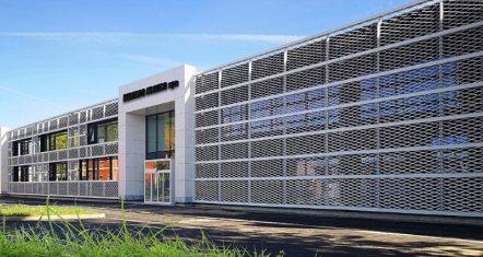 La nuova sede Rinaldo Franco Spa: la facciata