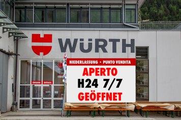 Il negozio Würth a Mules