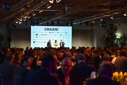 BigMarket 2019 - La serata da sx Michelangelo Pesciarelli, Francesca Negri e Matteo Camillini