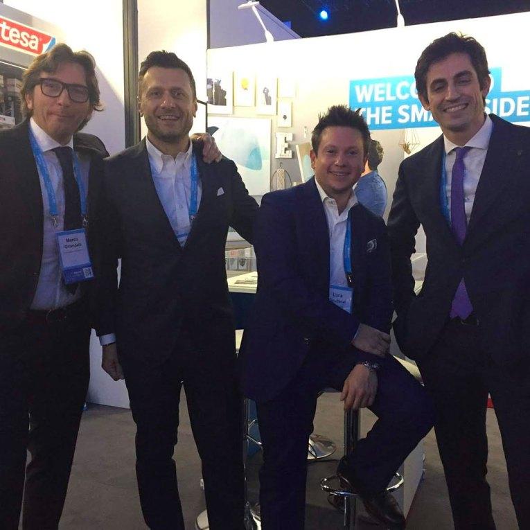 Da sinistra: Marco Orlandelli, Ivan Bartolucci, Luca Gaudenzi e Michele Zucca del Consorzio MADE4DIY