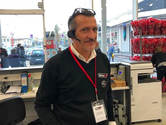 Il responsabile di negozio Massimo Di Biasio