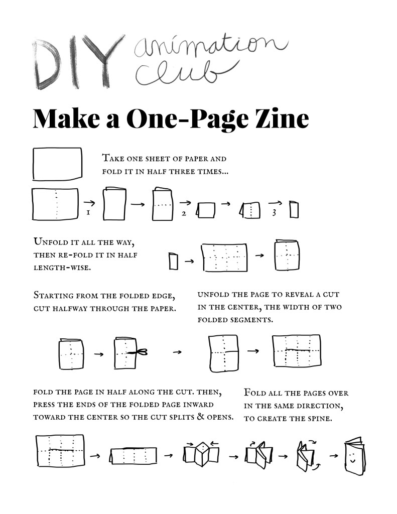 Instructions for making a 1-page zine (jpg)