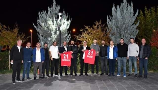 Diyarbekirspor ile Edirnespor arasında dostluk rüzgarı