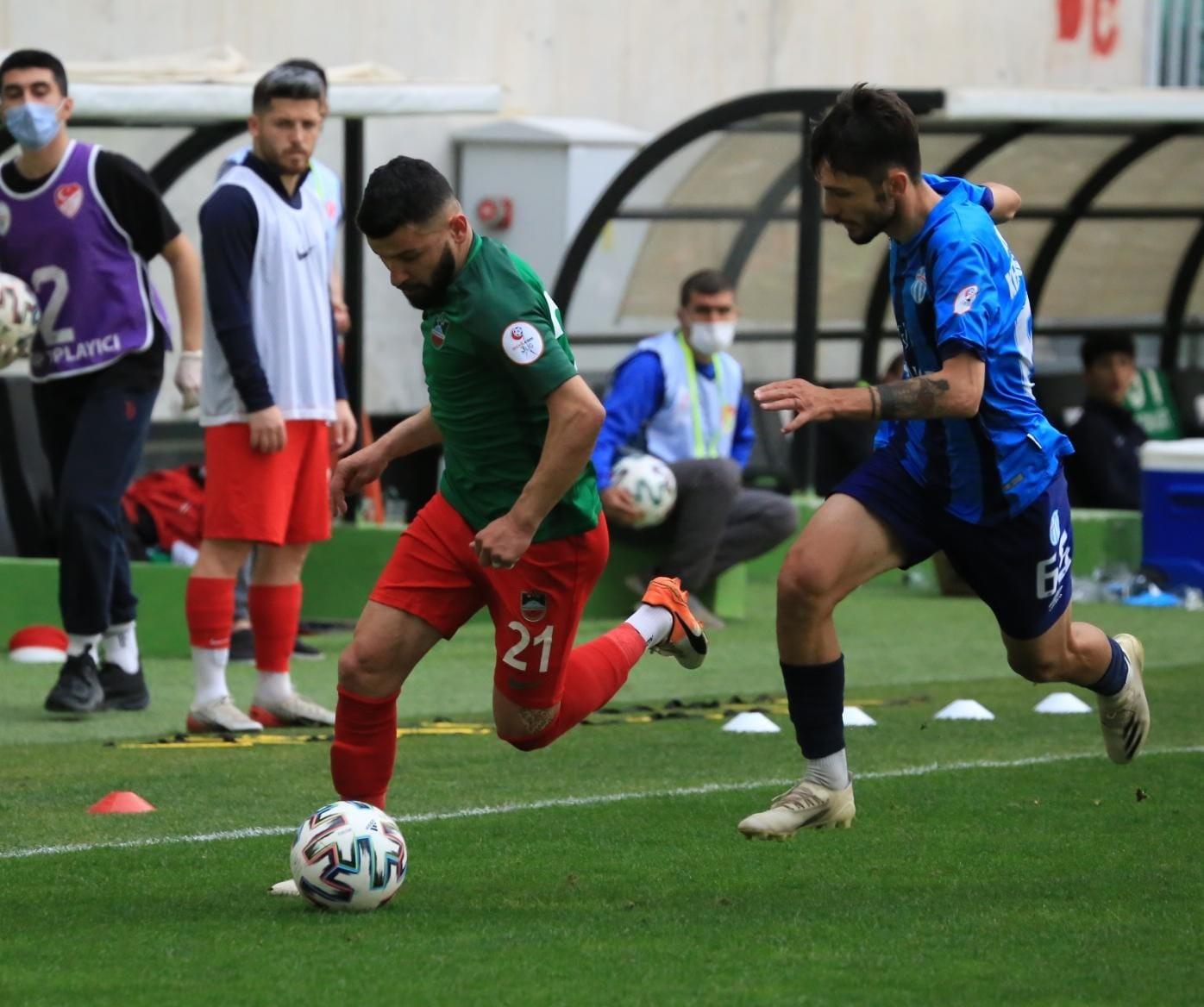 3. Lig: Diyarbekirspor: 2 – Antalya Kemerspor: 0