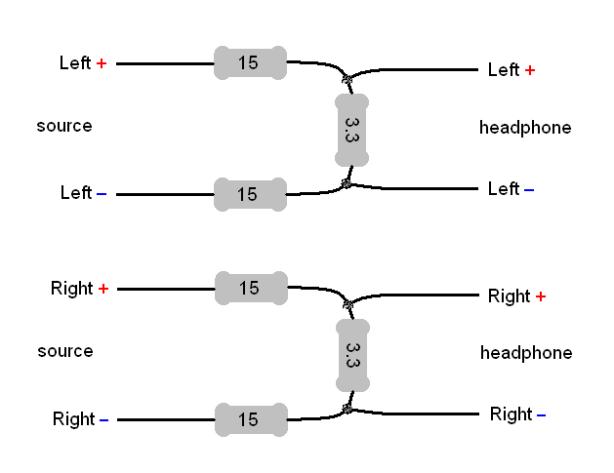 stereo headphone wiring