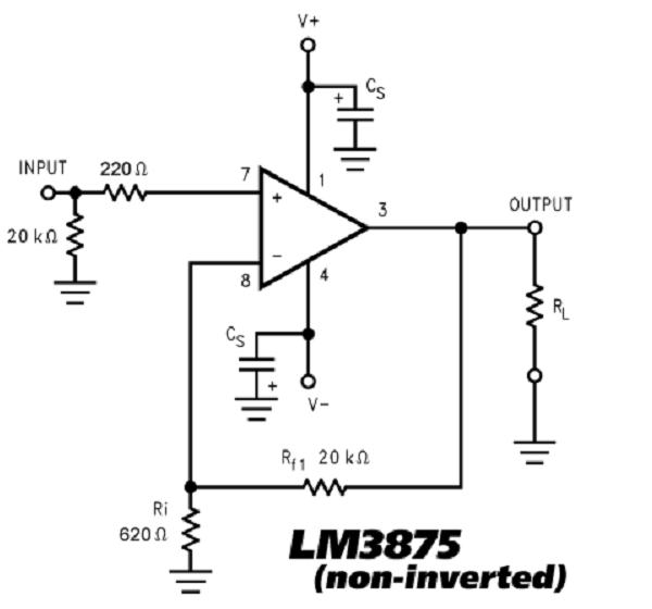 lm3875 gainclone
