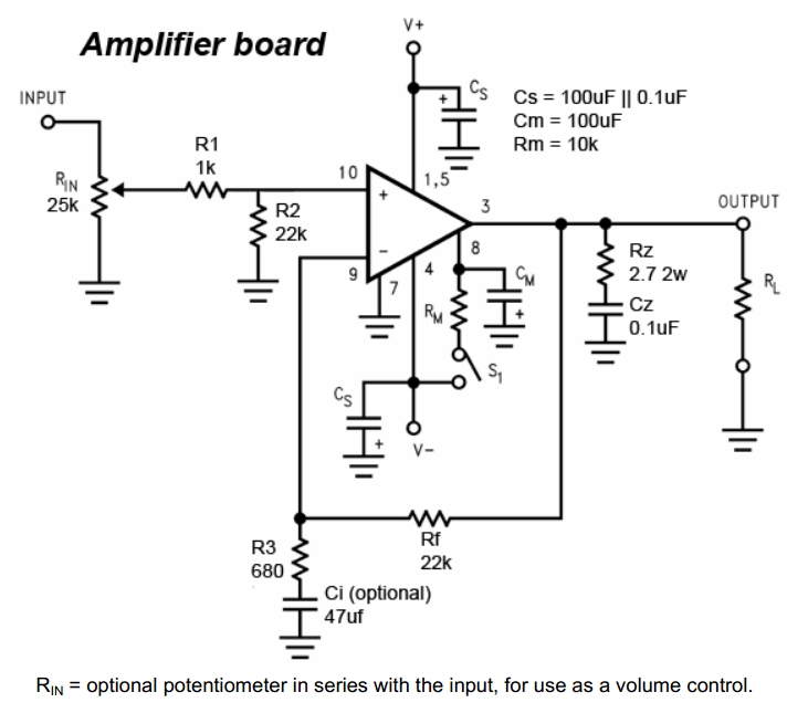 lm3875 power amplifier
