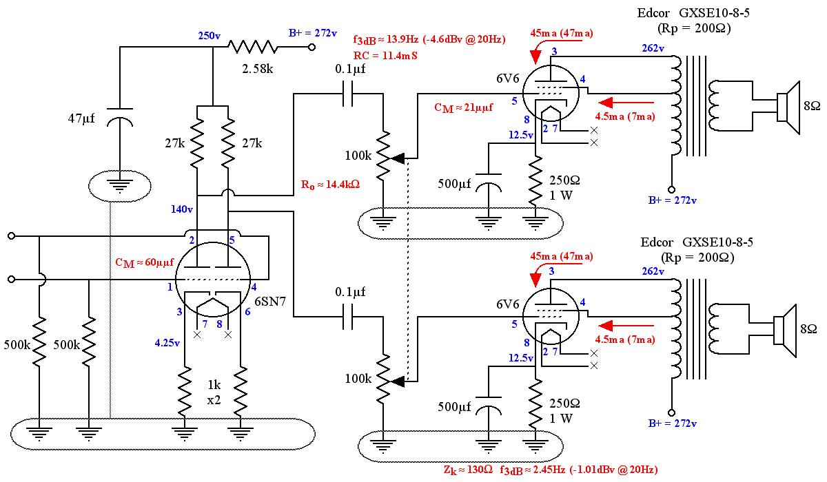 tube amp wiring diagram