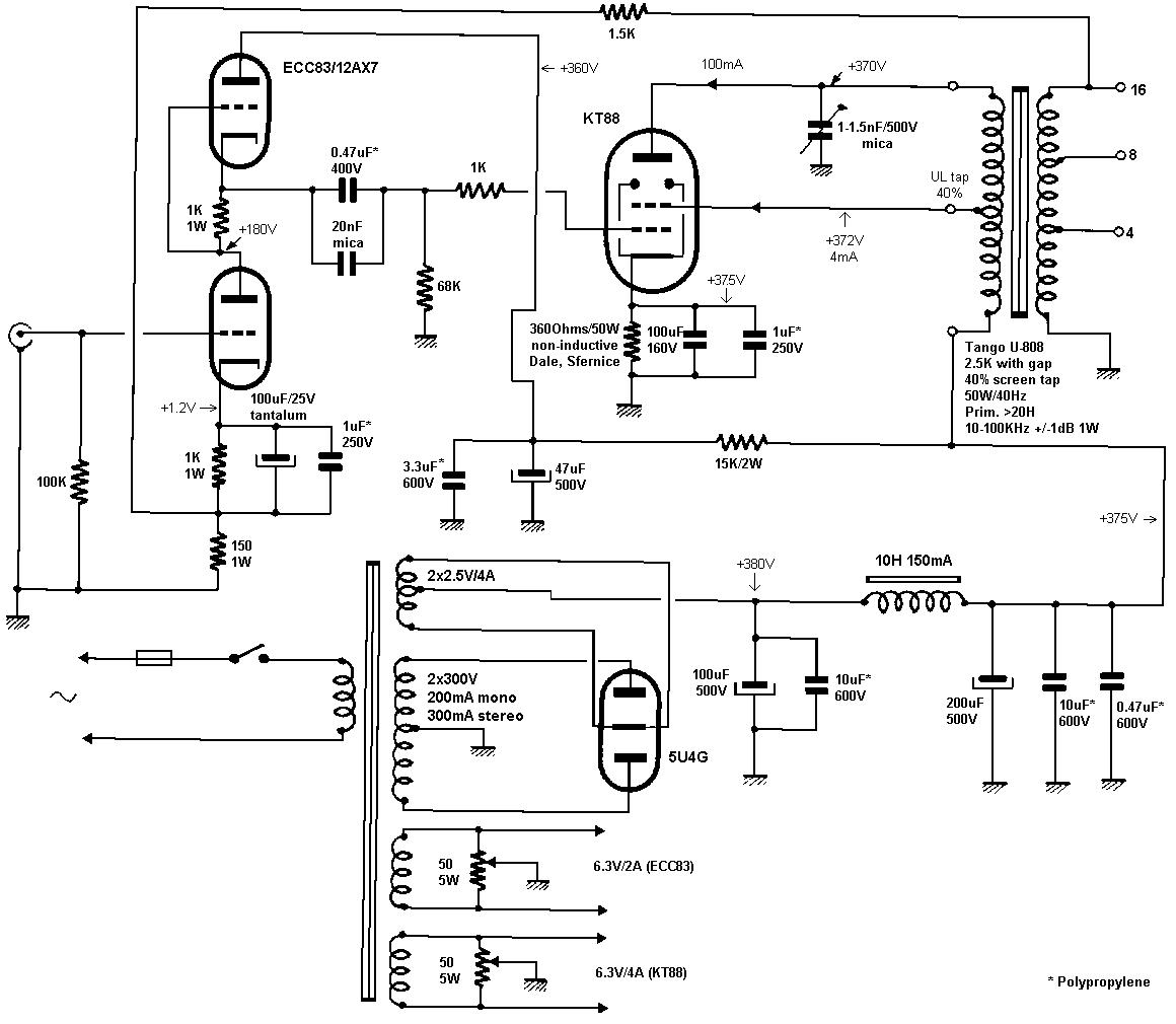 tube amp circuits