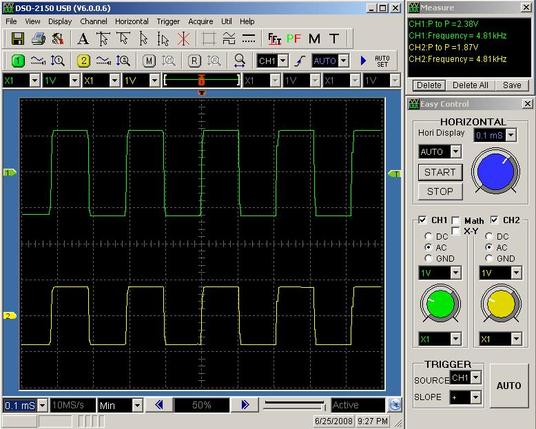 4800Hz Square Wave Response of IRF610