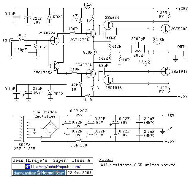 5000 watts power amplifier circuit diagram three states of matter jean hiraga's super class-a