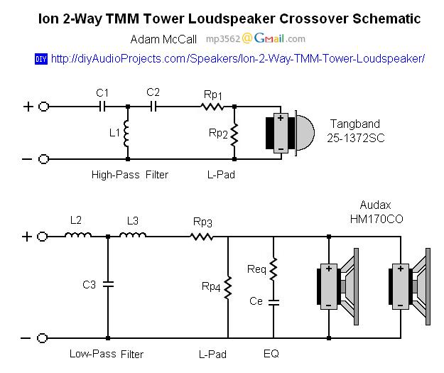2 Way Crossover Schematic