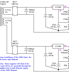 5v regulated power supply schematic for 300b heater filament [ 1415 x 751 Pixel ]
