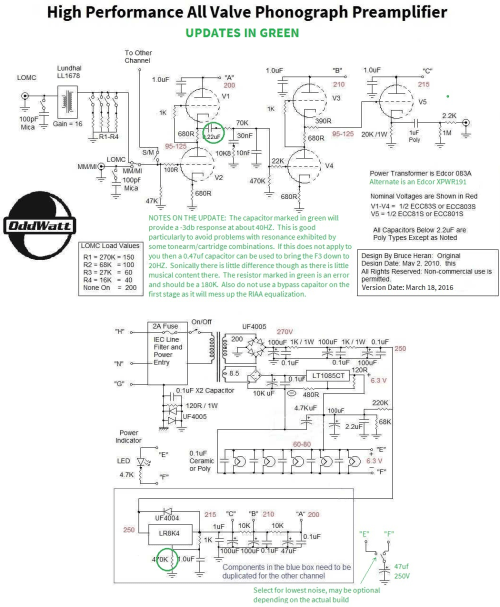 small resolution of updated groovewatt tube riaa phono preamp schematic