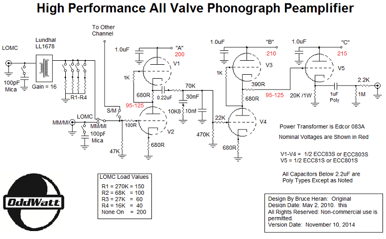 Step Up Transformer Wiring Diagrams Diy Audio Projects Forum Groovewatt Tube Riaa Phono Preamp