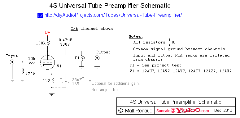 4s Universal Preamplifier With 12a 7 Valves
