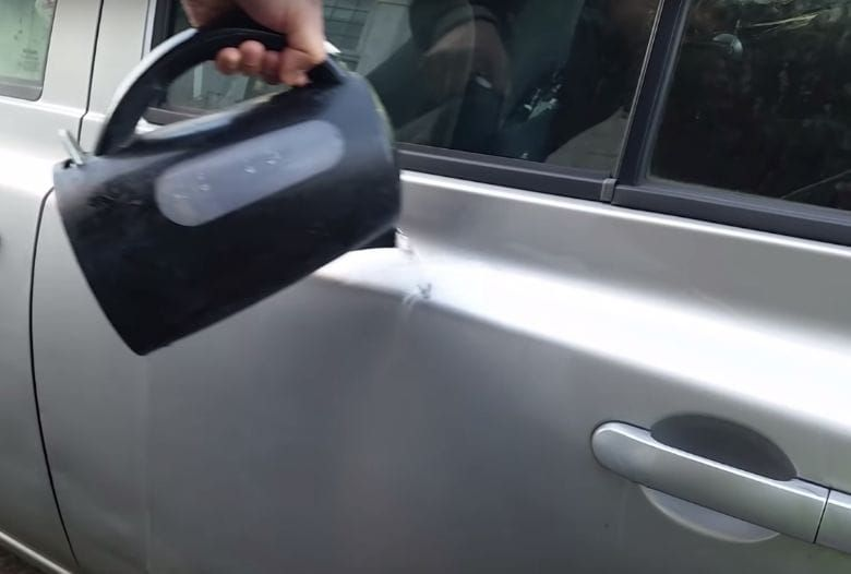 Start Debading Your Car By Pouring Hot Water