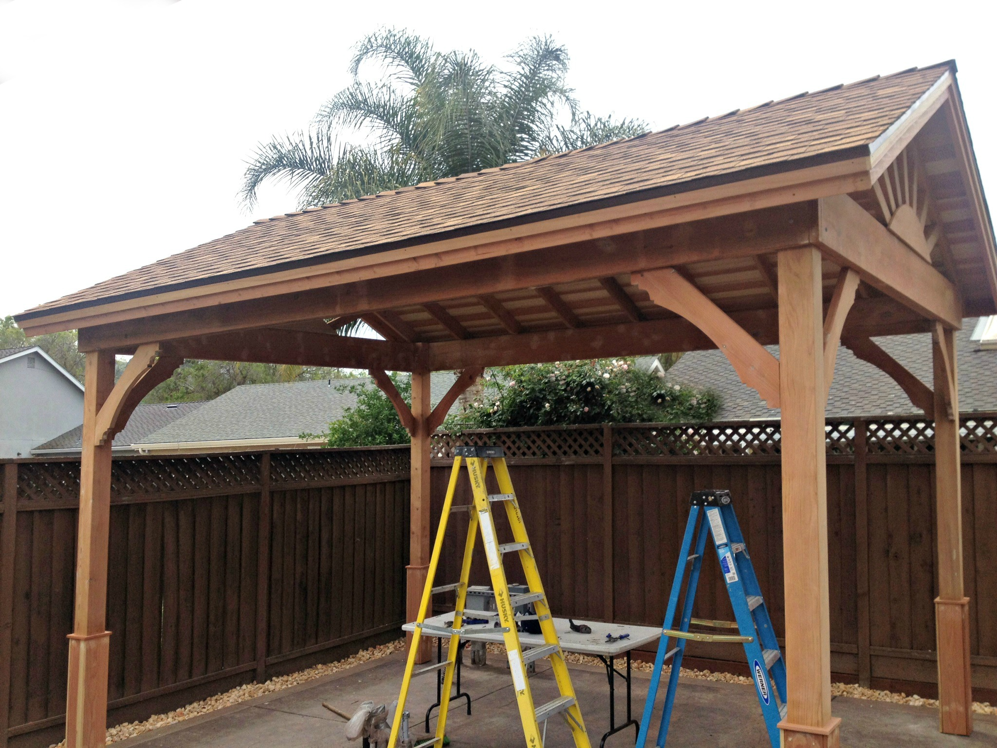 kitchen cabinet plans island wheels gazebo with gable roof - built in 3 days! diy backyard