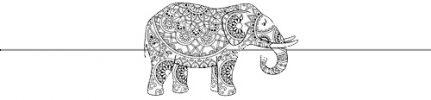 african elephant narrow w.line