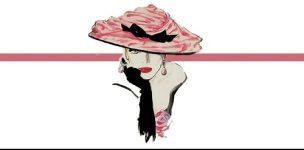 pink hat w.line