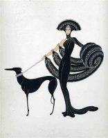 woman in fur w.dog