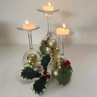 DIY: Holiday Wine Glass Centerpieces - DIY Bride